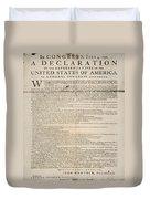 Declaration Of Independence Duvet Cover