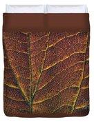 Dogwood Leaf Backlit Duvet Cover
