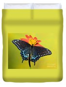 Eastern Black Swallowtail Butterfly Duvet Cover