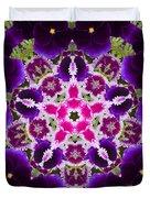 Flower Kaleidoscope Resembling A Mandala Duvet Cover
