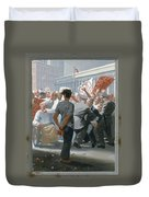 10. Jesus Before The People / From The Passion Of Christ - A Gay Vision Duvet Cover