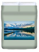 Lake Santeetlah In Great Smoky Mountains North Carolina Duvet Cover