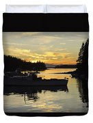 Port Clyde Maine Fishing Boats At Sunset Duvet Cover