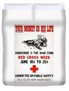 Red Cross Poster, C1917 Duvet Cover