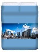 Skyline Of Uptown Charlotte North Carolina Duvet Cover by Alex Grichenko