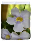 Purple Yellow Tropical Flower Duvet Cover