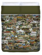 100 Painting Collage Duvet Cover