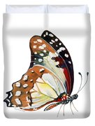 102 Perched White Lady Butterfly Duvet Cover by Amy Kirkpatrick