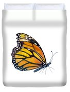 103 Perched Monarch Butterfly Duvet Cover