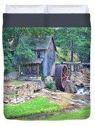 Sixes Mill On Dukes Creek - Square Duvet Cover