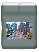 10th Avenue Rush Hour Duvet Cover