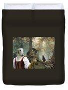Borzoi - Russian Wolfhound Art Canvas Print Duvet Cover