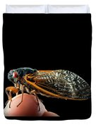 A Detailed View Of A Brood II Cicada Duvet Cover
