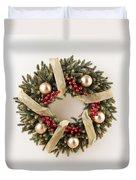 Advent Christmas Wreath  Duvet Cover