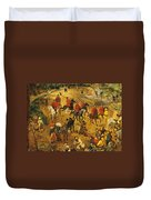 Ascent To Calvary, By Pieter Bruegel Duvet Cover