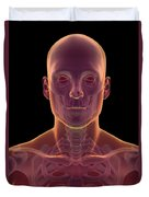 Bones Of The Head And Neck Duvet Cover