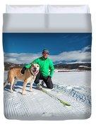 Colorado Cross Country Skiing Duvet Cover