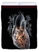Coronary Blood Supply Duvet Cover