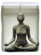 Meditation Pose Duvet Cover