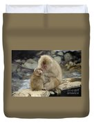 Snow Monkeys Duvet Cover