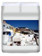 Views From Santorini Greece Duvet Cover