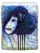 Vintage Hair Comb Duvet Cover