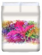The Red Orchid Duvet Cover