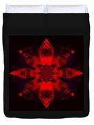 1107 - Mandala Red   Duvet Cover