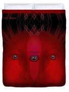119 - Three Eyed Portrait Duvet Cover
