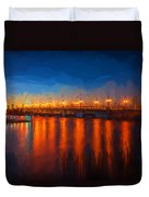 Bridge Of Lions St Augustine Florida Painted Duvet Cover