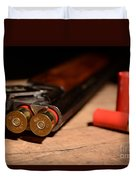 12 Gauge Over And Under Shotgun Duvet Cover