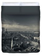 High Angle View Of A City Duvet Cover