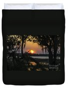 Lowcountry Spanish Moss Sunset Duvet Cover