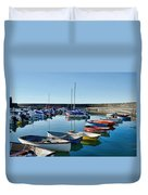 Lyme Regis Harbour Duvet Cover