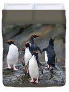 Macaroni Penguin Duvet Cover