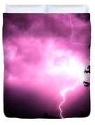 Rounds 2 3 Late Night Nebraska Storms Duvet Cover