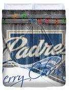 San Diego Padres Duvet Cover by Joe Hamilton