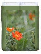 Scarlet Avens Orange Wild Flower Duvet Cover