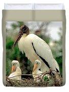 Wood Storks Duvet Cover