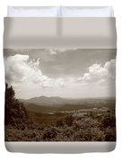 Blue Ridge Mountains - Virginia Sepia 8 Duvet Cover