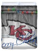 Kansas City Chiefs Duvet Cover by Joe Hamilton