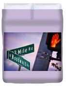 13 Mile Road And Woodward Avenue Duvet Cover