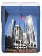 Minneapolis Skyscrapers Duvet Cover