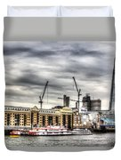 River Thames View Duvet Cover