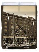 St Katherine's Dock London Duvet Cover