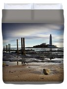 St Marys Lighthouse Duvet Cover