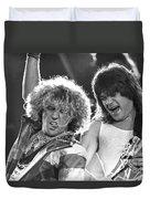 Van Halen - Sammy Hagar With Eddie Van Halen Duvet Cover
