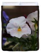 Viola Tricolor Heartsease Duvet Cover
