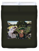 Dachshund Art Canvas Print Duvet Cover