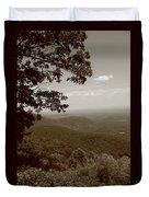 Blue Ridge Mountains - Virginia Sepia 9 Duvet Cover